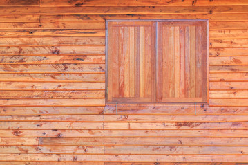 Wooden window and textured