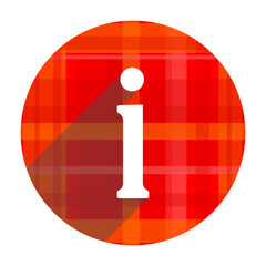 information red flat icon isolated