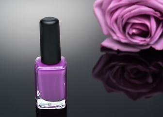violet nail polish and rose