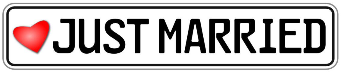 Just Married Schild  #141020-svg06
