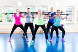 Fototapeta Ćwiczenia fitness ze sztangą