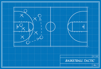 basketball tactic on blueprint
