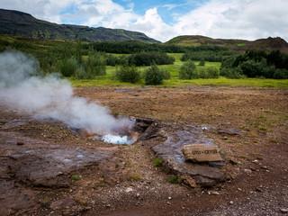 Geyser champ géothermique de litli Geysir