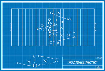 football tactic on blueprint