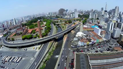 Aerial View for a Amazing Landscape in Sao Paulo, Brazil