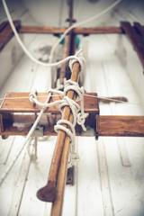 Stearing of and old clipper