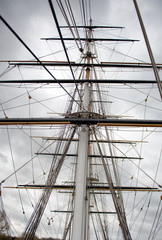Maritime Naval Rigging of an old clipper