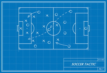 soccer tactic on blueprint