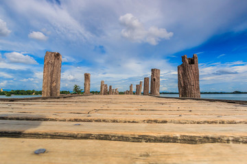 U bein bridge at Taungthaman lake in Amarapura, Myanmar