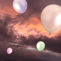 Balloons outside