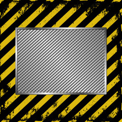 black and yellow stripes with plaque
