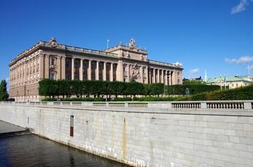 le parlement suédois à Stockholm