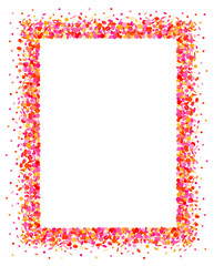 Confetti frame in pink