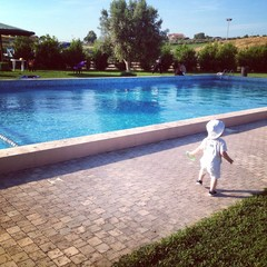 swimming pool with baby
