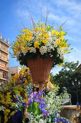 yellow Lily white daisies