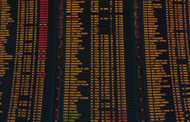 Led screen schedule of flights departures