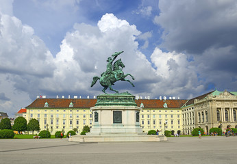 Square Helden, Heldenplatz and Imperial palace (Hofburg), Vienna