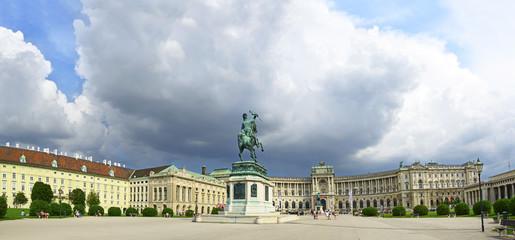 Square Helden, Heldenplatz and Imperial palace (Hofburg), Vienna