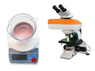 scale and microscope