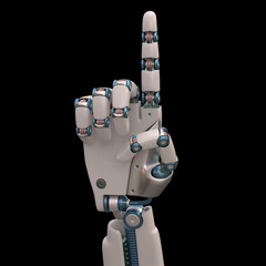 Pointing Robot. Clipping path included.