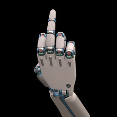 Gesture Robot. Clipping path included.