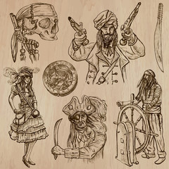 pirates (no.8) - an hand drawn vector pack