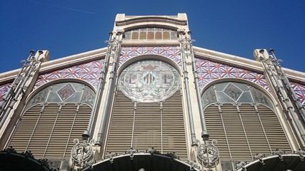 Fachada del mercado central de Valencia