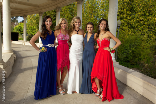 Girls Going to the Prom Outside - 71854593