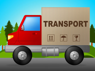 Transport Truck Means Trucking Post And Courier