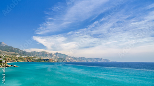 view of the coast and sea in nerja, spain