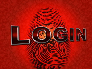 Login Security Means Password Enter And Permission