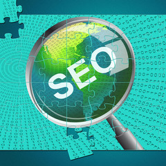 Seo Magnifier Shows Websites Magnifying And Website
