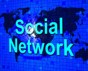 Social Media Shows Networking People And Communication