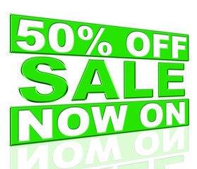 Fifty Percent Off Shows At The Moment And Closeout