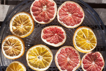 Drying grapefruits and oranges