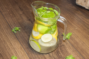 Lemon, lime and mint water
