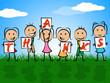 Kids Thanks Indicates Child Gratefulness And Appreciate