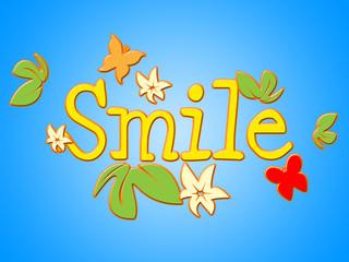 Smile Flowers Means Florist Face And Bouquet