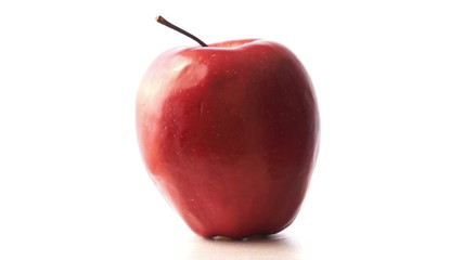 Single fresh juicy red apple