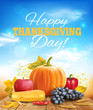 Happy Thanksgiving background. Vector