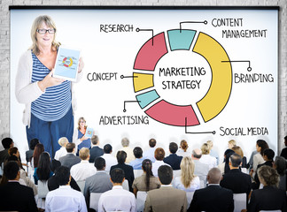 Business People in a Marketing Strategy Seminar