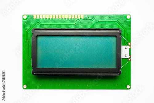 Leinwanddruck Bild Green LED Character Display