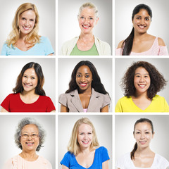 Group of Multiethnics Women Smiling