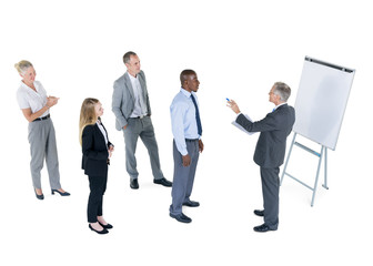 Group Of Business People Learning From A Business Man