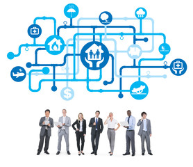 Group of Business People with Healthcare and Insurance Concept
