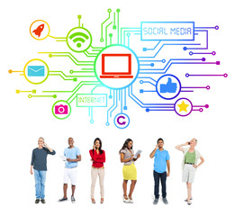 Group of People Social Media Concept
