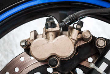 Dirty Sport Bike's Disc Brake with Calipers