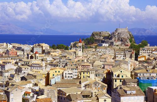 Old town on the island of Corfu, Greece.