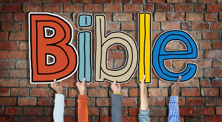 Group of Hands Holding Letter Bible