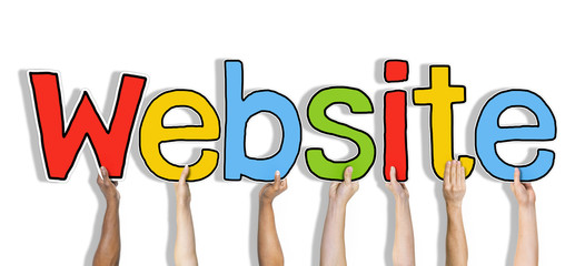Diverse Hands Holding the Word Website